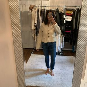 Wool cropped blazer/jacket